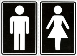 modelo de crachá para banheiro